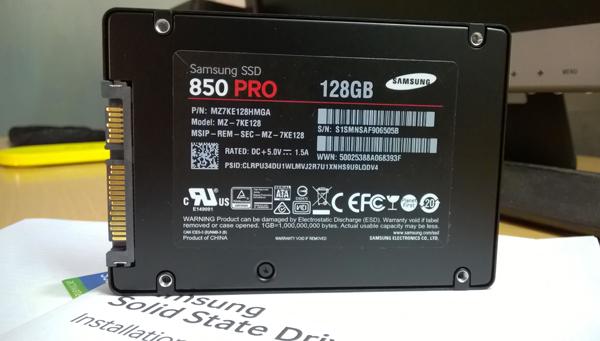 SSD SAMSUNG 850 PRO 128Gb SATA III MỚI 100 %